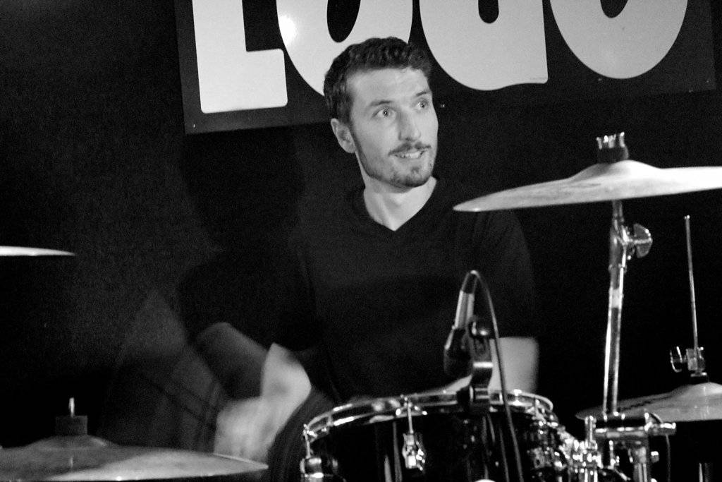 Yannick on drums