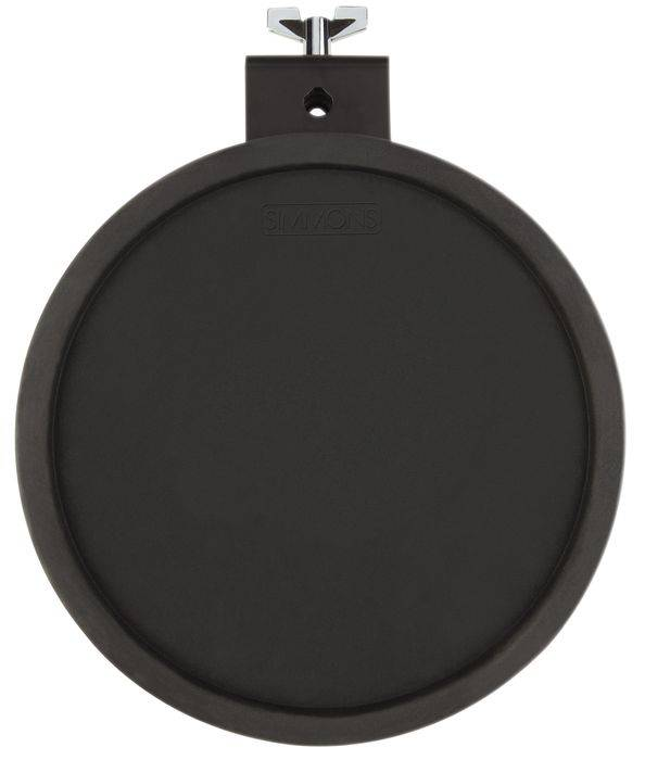 A rubber pad as it appears on an electronic drum set