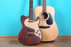 This article talks about choosing between drums or guitar