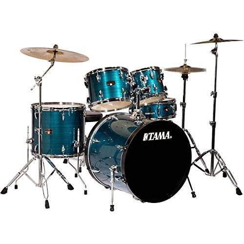 This is the complete set-up for the Tama Imperialstar Review.