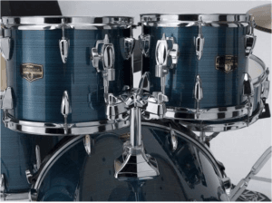 This photo shows the hairline blue details for the Tama Imperialstar Review.