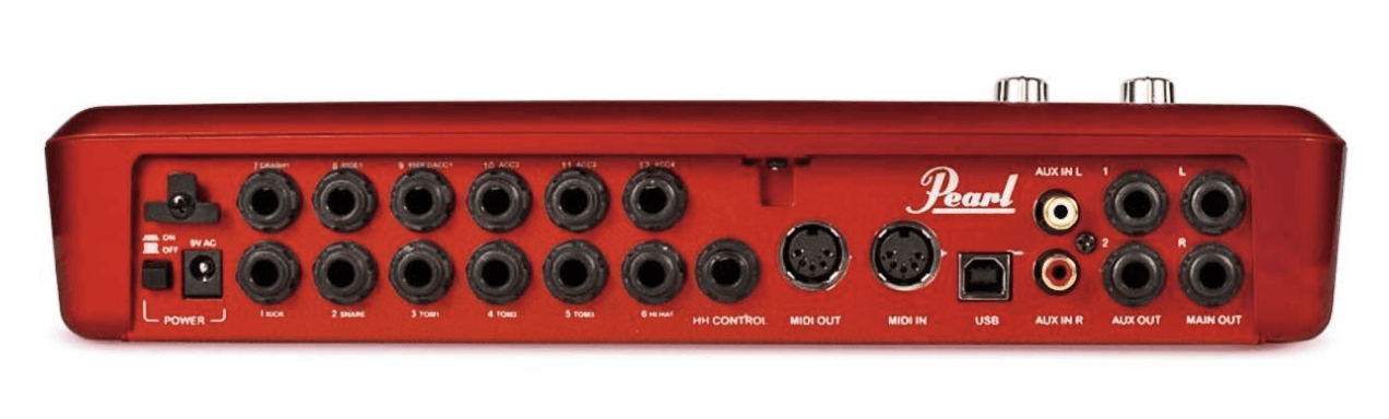 The Pearl E Pro Review mentions that the redbox has midi in and out.