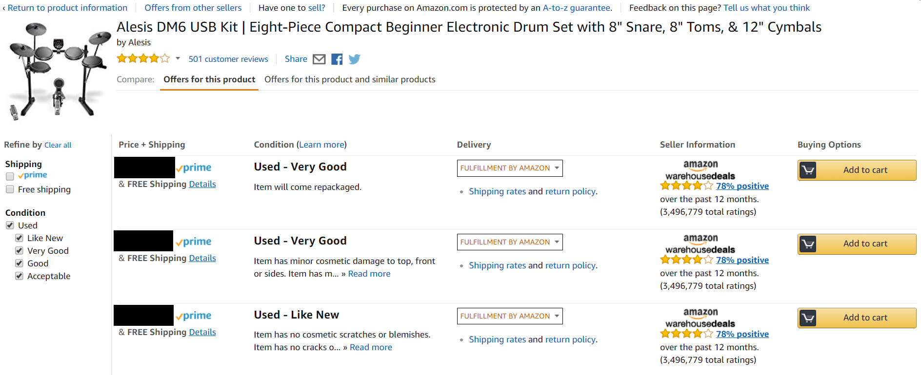 used drums for sale