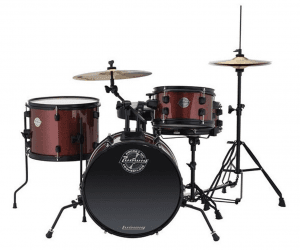 The kit comes in Red Wine as mentioned in this Ludwig Pocket Kit Review