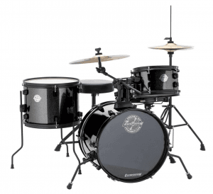 The kit also comes in black as said in this Ludwig Pocket Kit Review