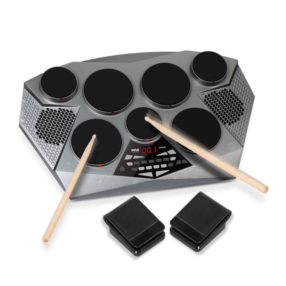 This electronic drum pad is markedly different from the sample pad for drummers on the right