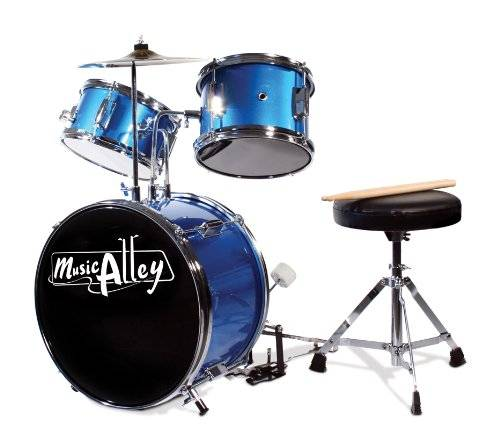 Music Alley Kids 3 Piece Beginners Drum Kit DBJK02