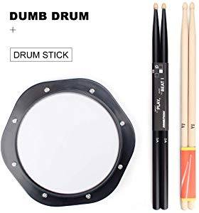 QStyle 10-inch Drum Practice Pad Set