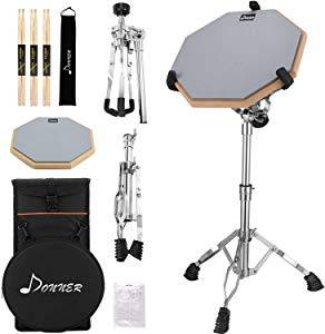 Donner Drum Practice Pad with Snare Drum Stand